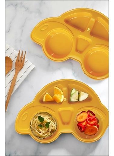 Kitchen Love 2 Adet Araba Model  5Bölmeli Mama Tabağı Oranj